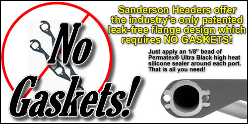 Sanderson's  Patented Leak-Free Flange